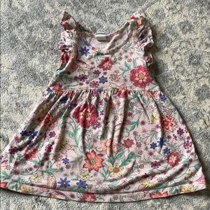 Gap Floral ruffle sleeve dress